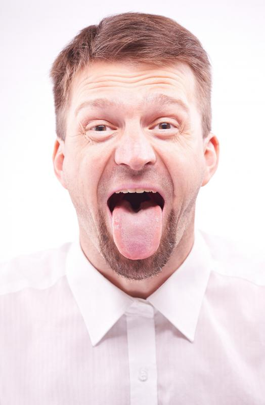 Synthetic saliva should lubricate your gums and tongue when you speak.
