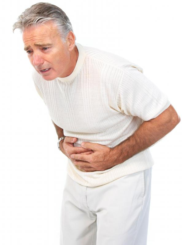 Side effects of phosphodiesterase inhibitors may include nausea or abdominal discomfort.