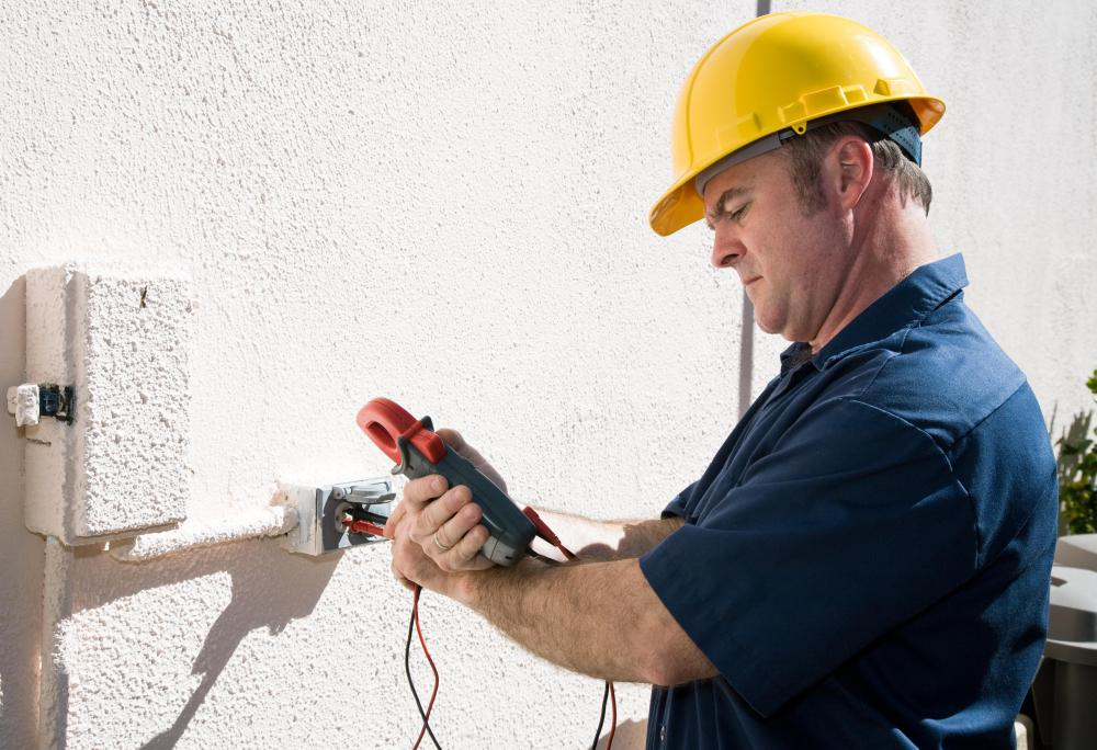 Electricians often use voltage meters to perform electrical testing.