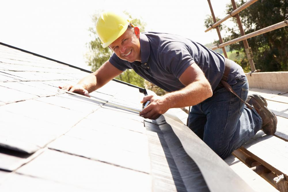Rigid insulation may be installed on roofs.