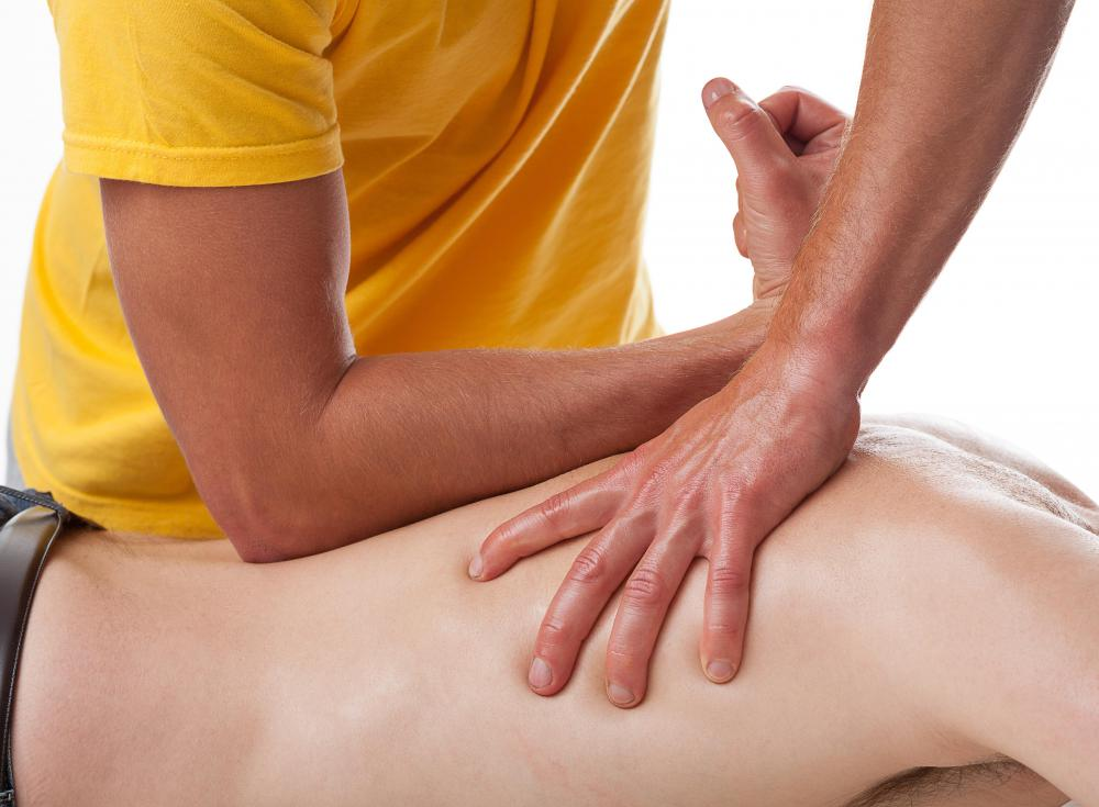 A massage can help ease the pain of sore sacral muscles.