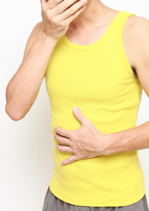 Symptoms of enterocolitis may include abdominal pain and cramping.