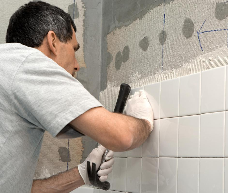 Often times it's recommended to match grout color with tile color, such as white on white.