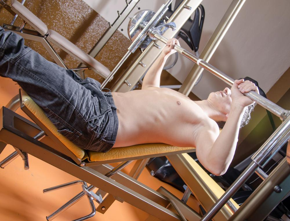 Workout benches are often used for upper-body exercises.