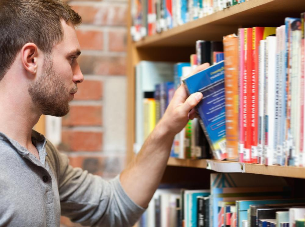 A librarian at a high school typically orders books and other resources needed by students.