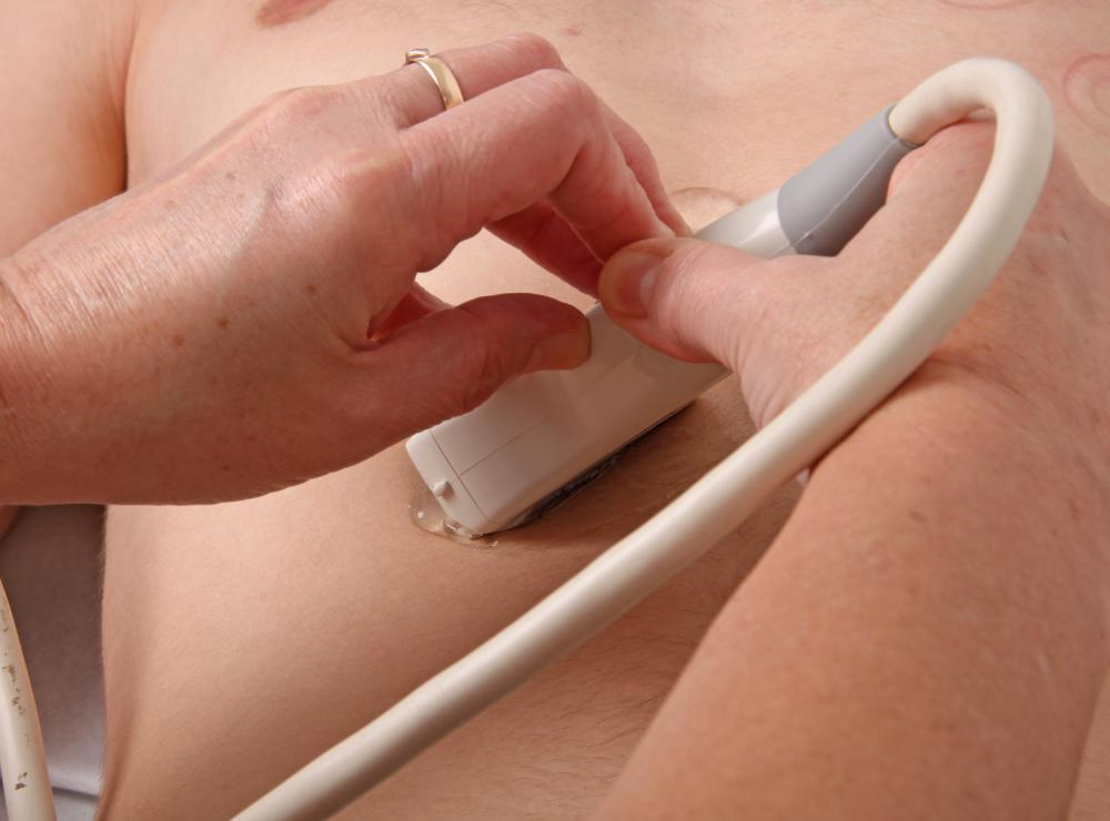 An ultrasound may be used to see whether or not body fluids are flowing as expected.