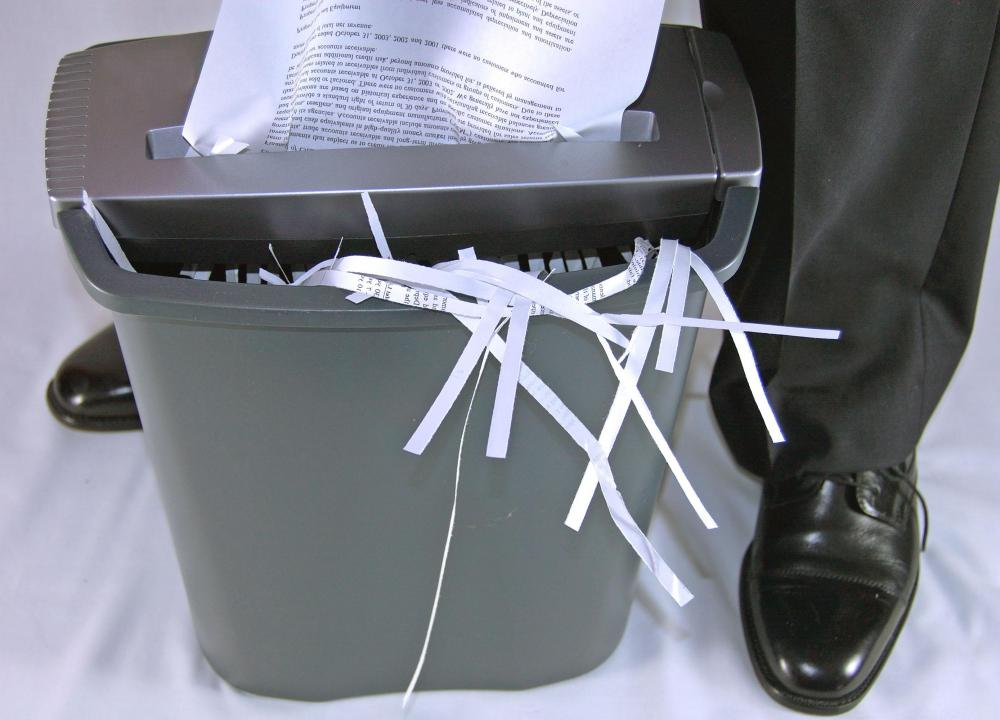 Shredding old bank receipts may help protect an individual against identity theft.
