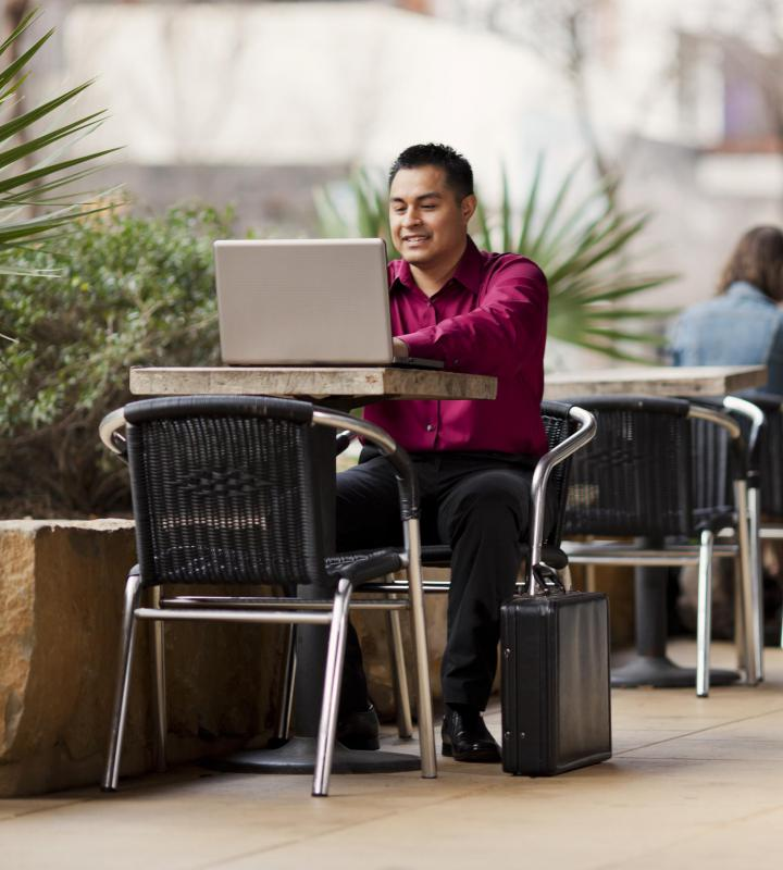 Telecommuting allows employees to work from a remote location.