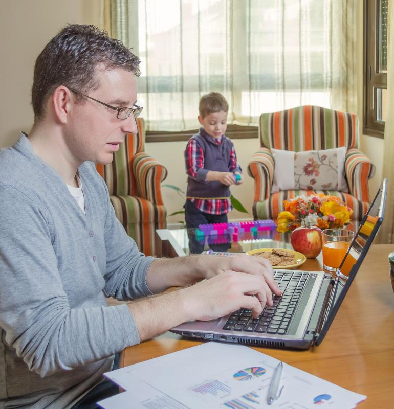 Distance learning provides flexibility for students with families.