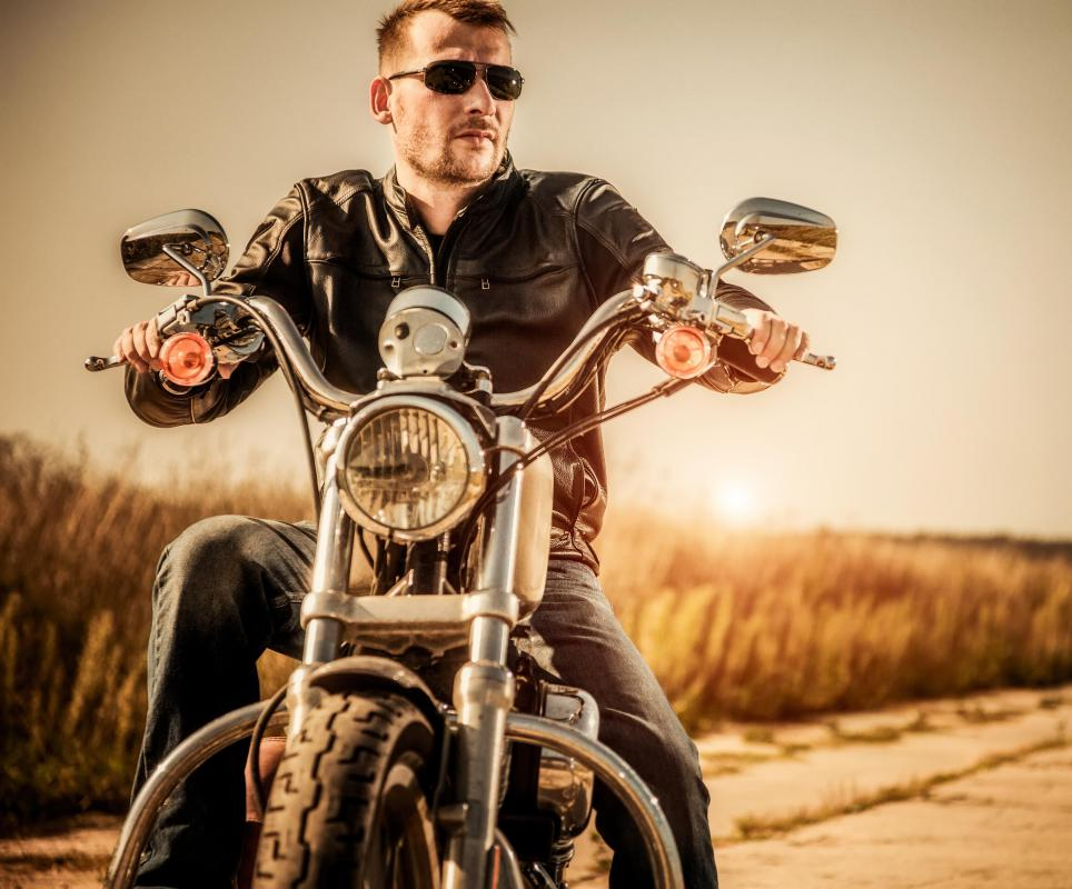 Classic motorcycle jackets are often a fashion statement as well as a way to protect the rider.