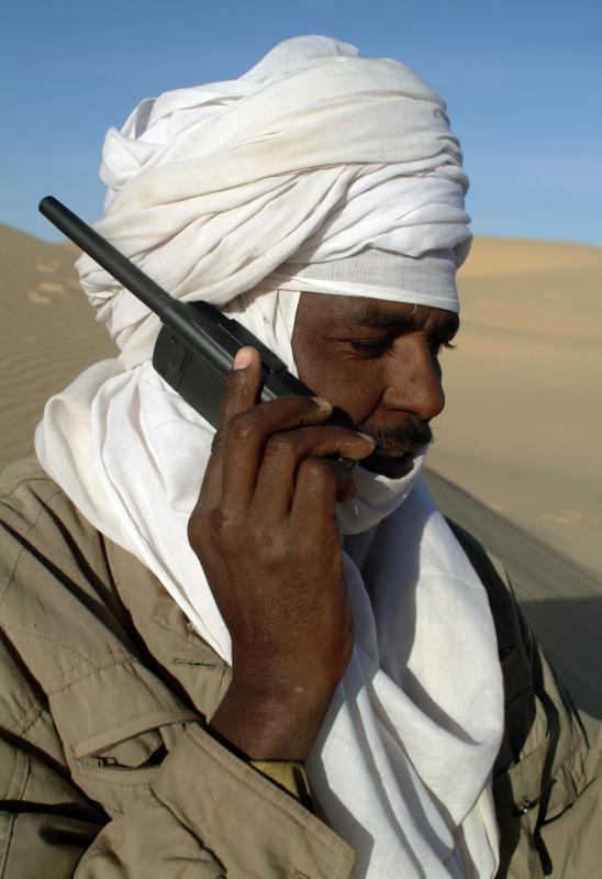 Mobile satellite phones vary in size, but all rely on a satellite network.