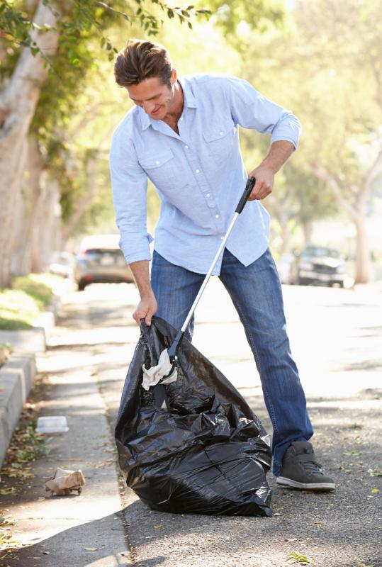 Volunteering can be as easy as picking up trash.