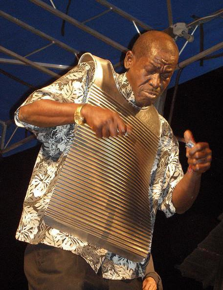 The rubberboard, or frottoir, is a type of percussion instrument worn as a vest and used in zydeco music.