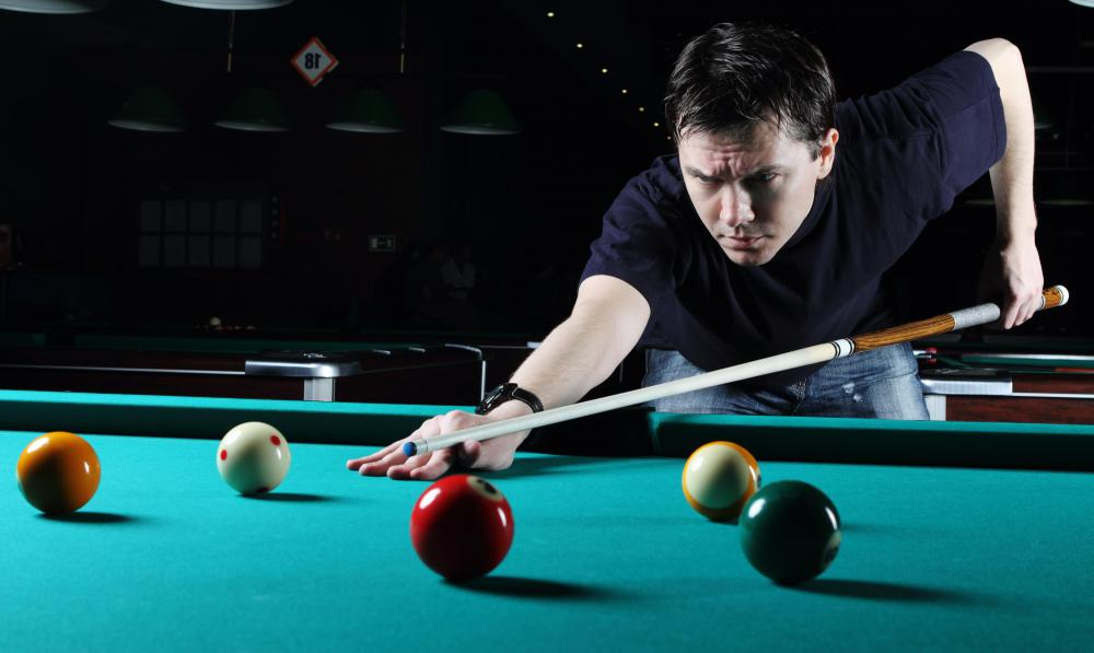 Snooker and pool both use cues.