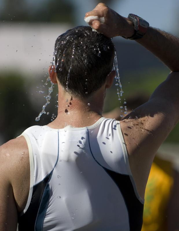 Athletes and others may need to replenish not only water, but also essential salts and electrolytes.