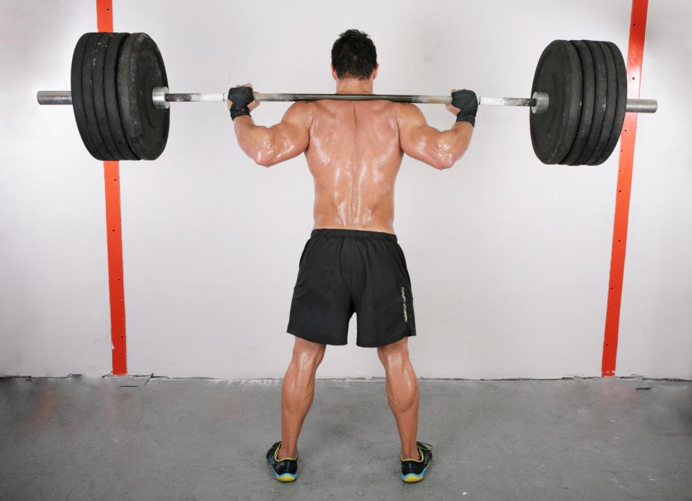 A power lifting competition works an enormous range of muscles.