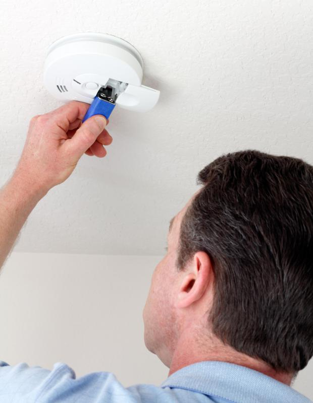 Smoke detectors may be installed as part of a home security system.