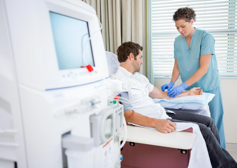 A single treatment of dialysis can last as long as five hours and leave a patient feeling weak.