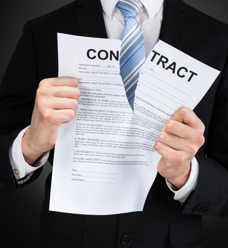 When establishing a contract with someone, it is advisable to read it carefully to see if there is an escape clause.