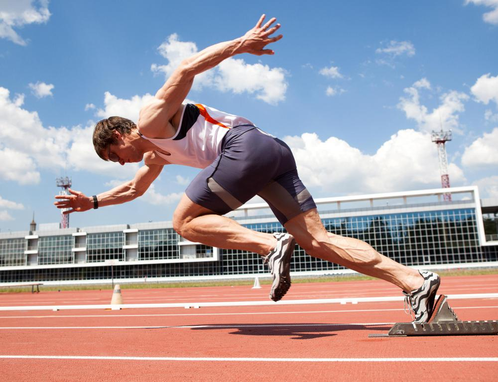 Sprinters and other athletes who need a burst of speed over a short distance have well-developed fast twitch muscle fibers.
