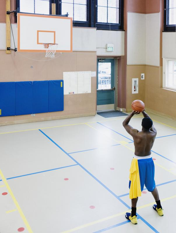 What are the dimensions of a basketball court with pictures for Indoor basketball court size