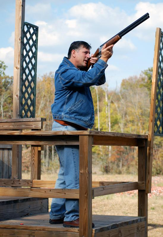 Skeet shooting is often done at a regional sporting club.