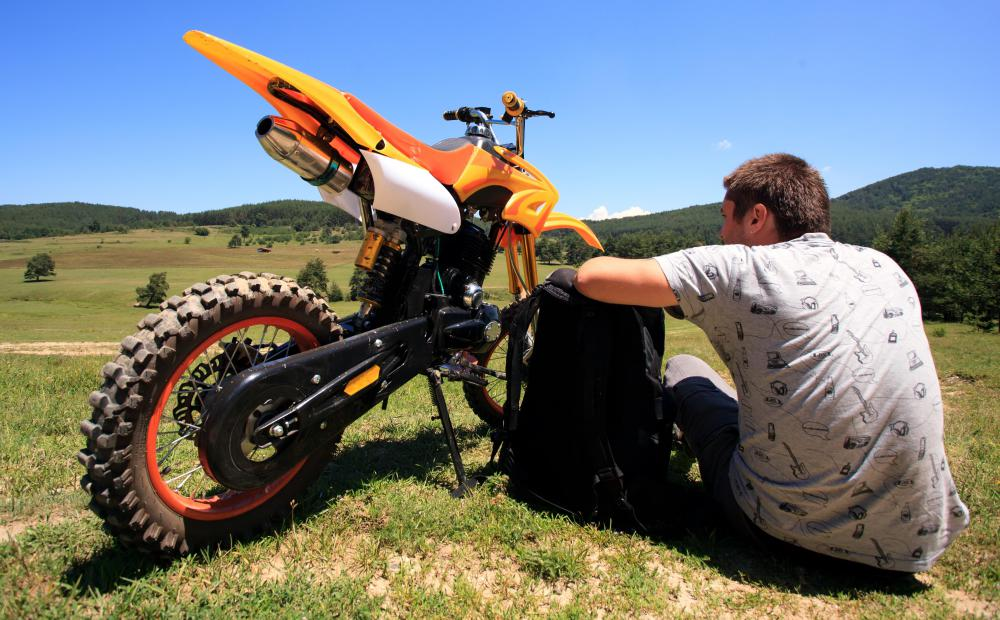 "Motorcycles that are used for cross country, or ""dirt"", rides may incur damage that's related to direct exposure to the environment."