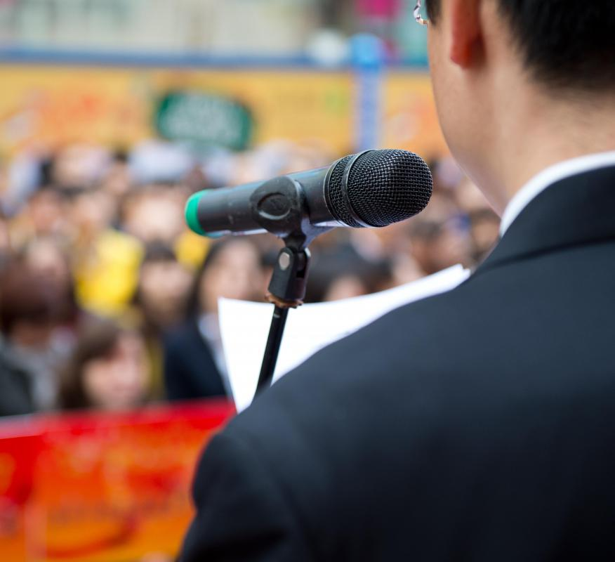 An enrollment coordinator may be responsible for participating in public speaking engagements.