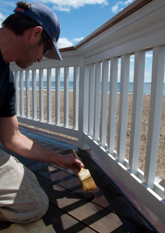 Sealants keep composite decking in good condition.
