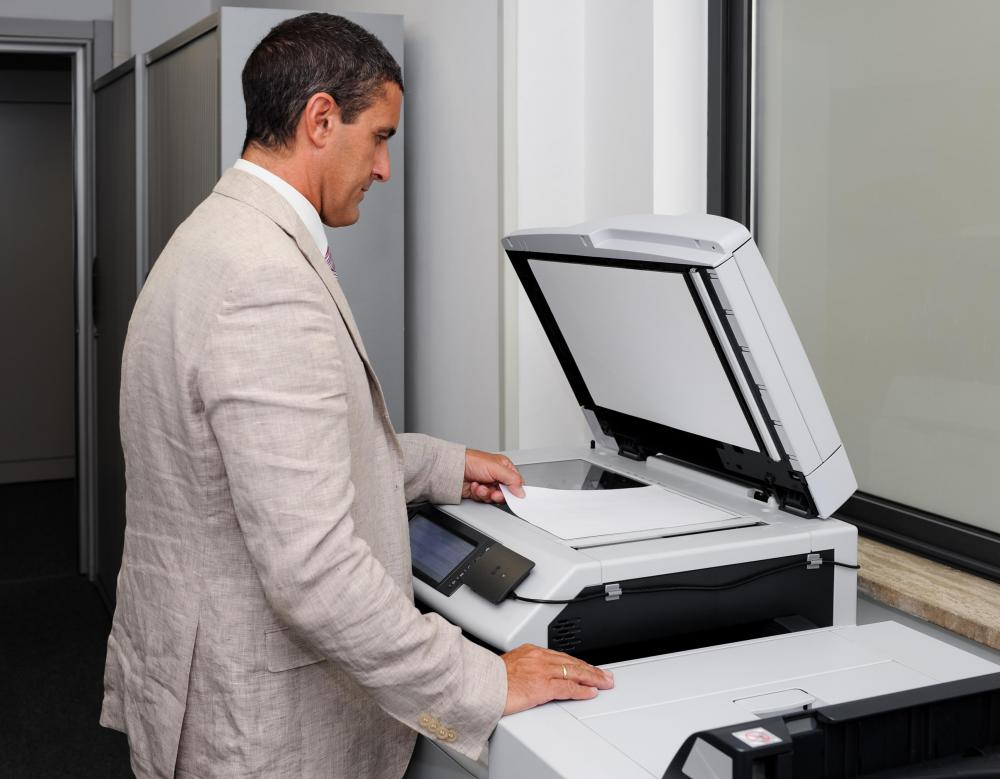 Some printers and photocopiers can be connected to a network wirelessly.