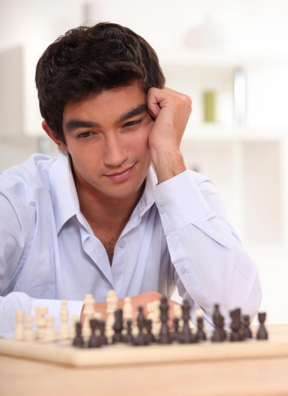 Some chess games feature challenging situations in which the player is caught between two difficult situations.