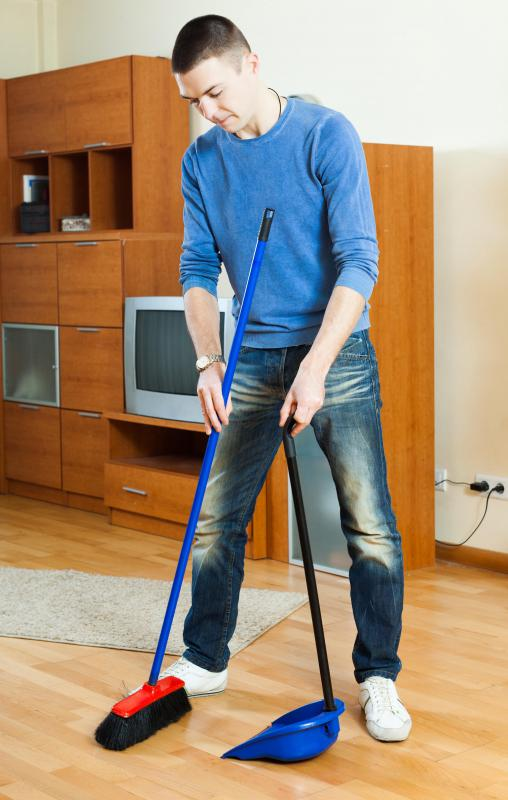 Sweeping a floor or otherwise focusing on a single task for an extended period of time requires sustained attention.