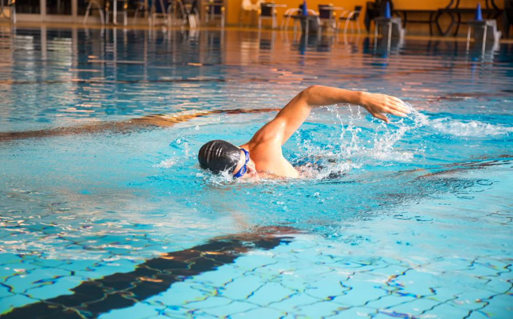 Swimming engages the whole body, including the core.