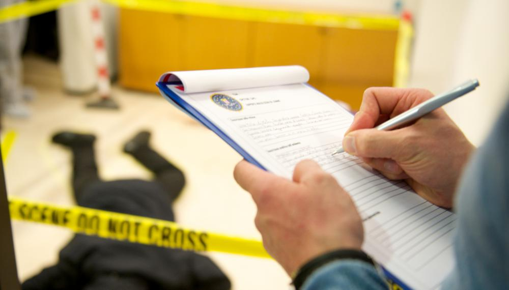 Forensic fingerprinting might identify those present at a crime scene.