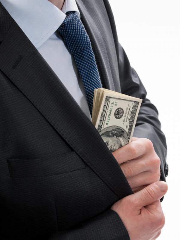 People seeking money for bribery often request used, rather than uncirculated, notes.