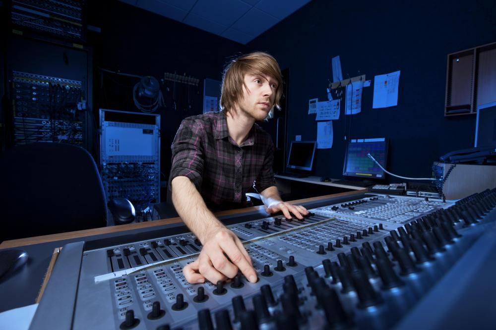Soundproofing foam panels may be used in recording studios.