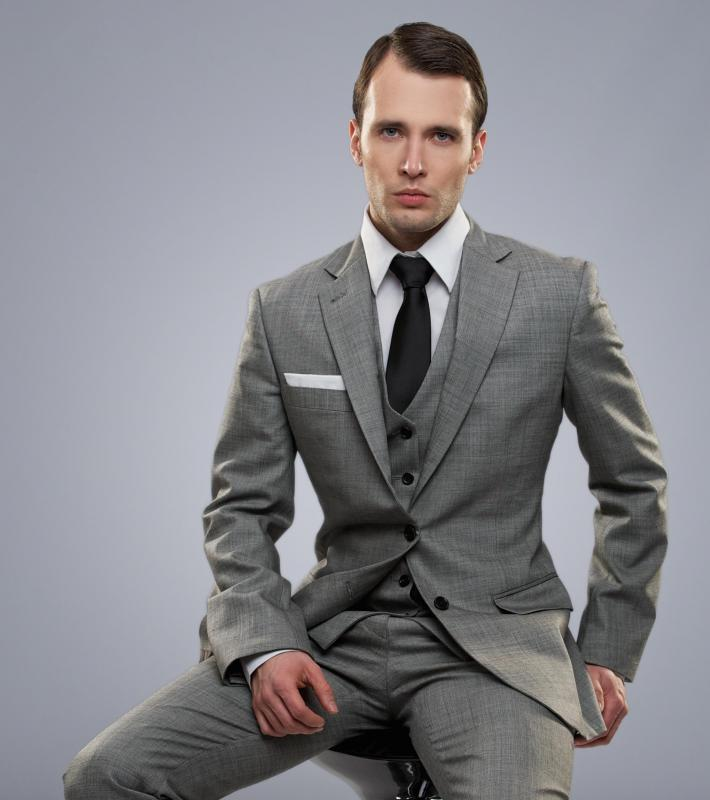 Male fashion models are often used to advertise suits and other forms of business attire.