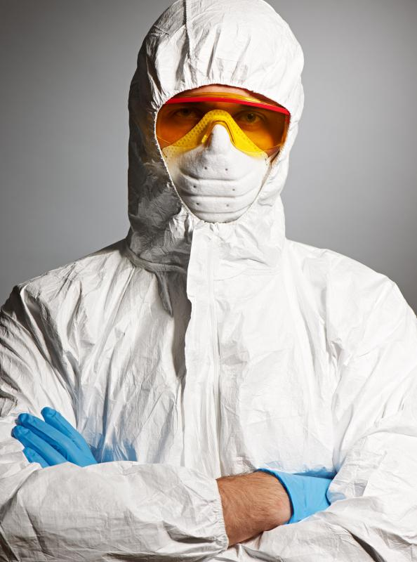 Fiberglass laminators often have to wear protective suits.