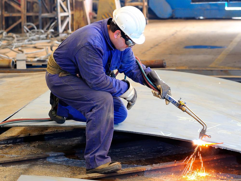A metal fabricator may need to be skilled in cutting and welding with an oxyacetylene torch.