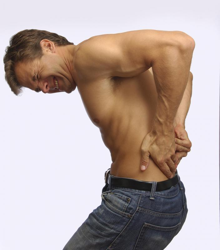 Lower back pain could be caused by injury to the sciatica nerve and muscle strains or tears.
