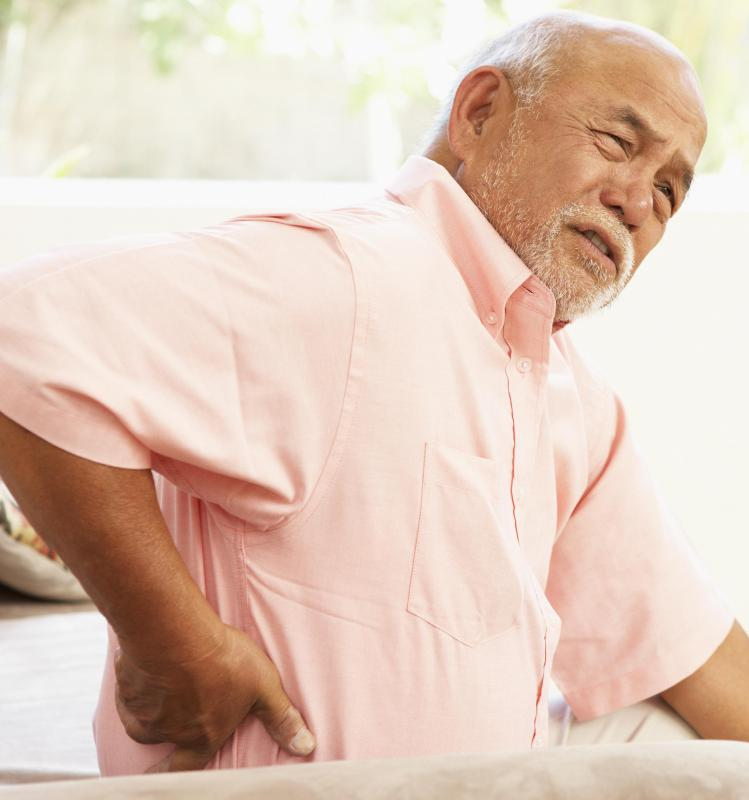 Lower back pain is often caused by sciatica.