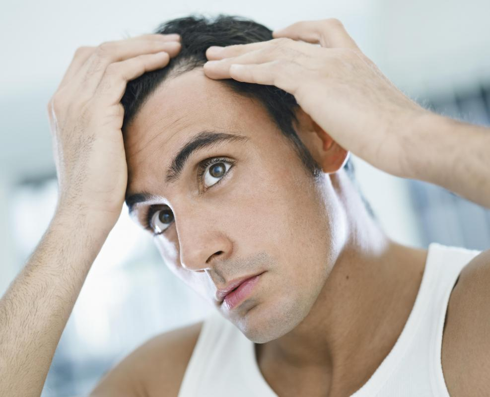 Some cases of a flaky scalp are caused by a fungus.