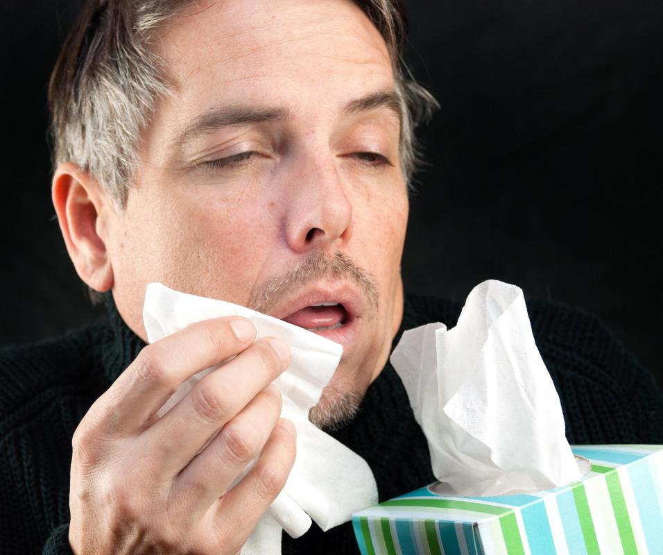 It's polite to use a tissue when sneezing to prevent the spread of germs.