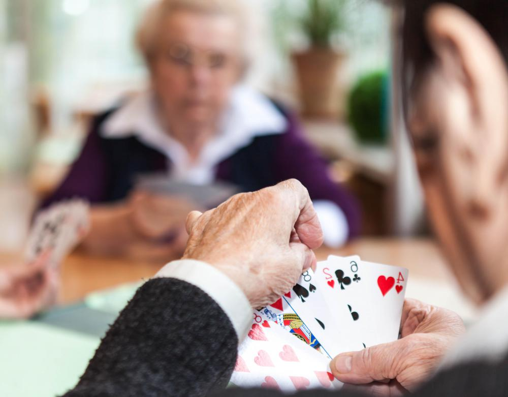 Playing cards can keep the mind active.