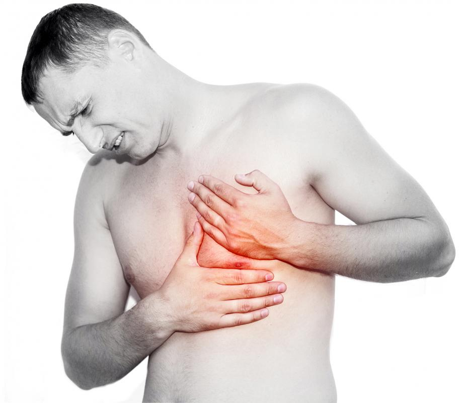 Symptoms of atrial fibrillation may include chest discomfort.