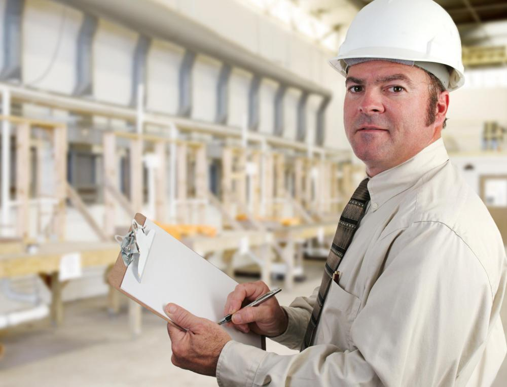 Building inspectors evaluate a structure's quality of construction.