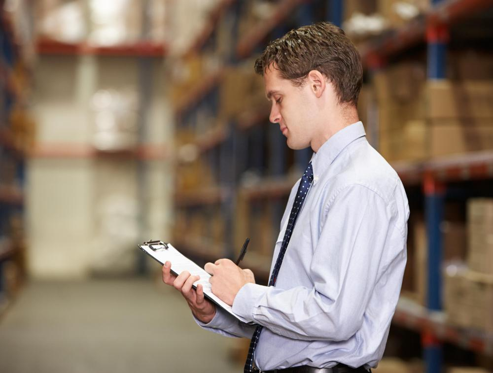 A procurement assistant is responsible for keeping records of a company's inventory.