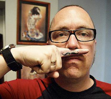 Mustache tattoos aren't always permanent, and can be applied using marker or temporary tattoo instead.