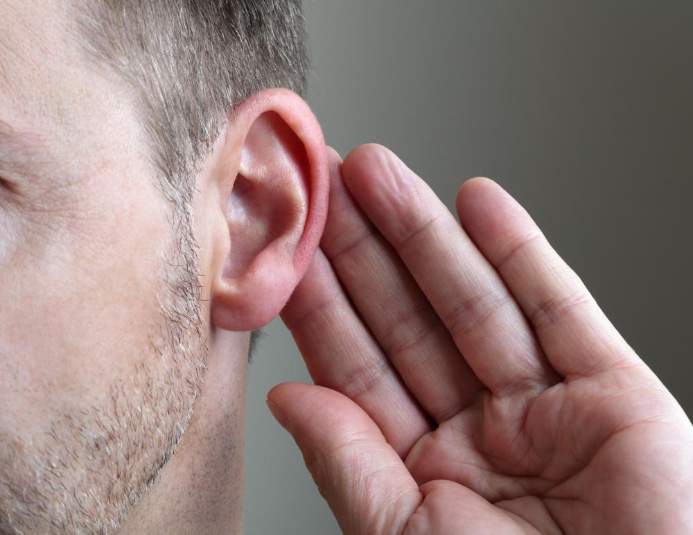 Asking for information to be repeated multiple times is a symptom of hearing impairment.