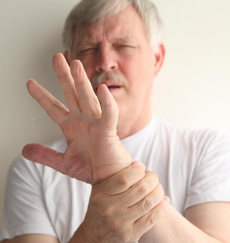 Rheumatoid arthritis can cause hand pain and stiffness.